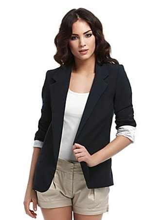 Ftted Navy Blue Blazer