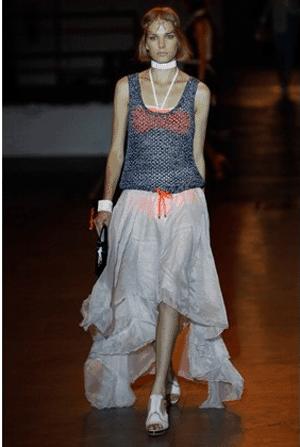 White Mullet Skirt