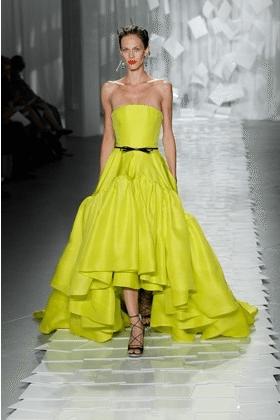 Yellow Mullet Skirt