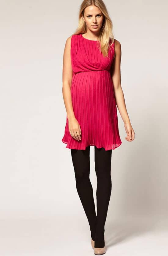 Asos Pleated Maternity Dress
