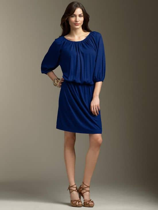 Blue Poet's Dress