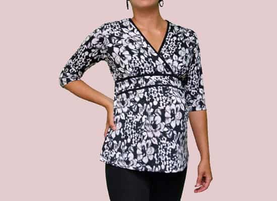 Double Pipe Maternity Dress