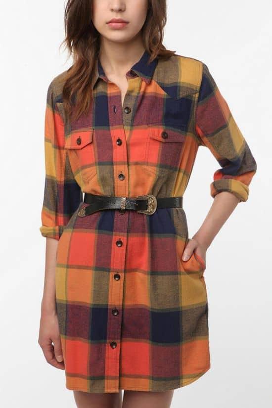 Flannel Fall Dress