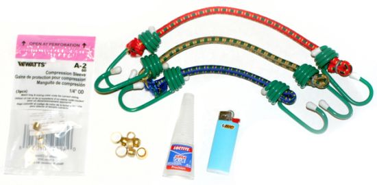 Materials for Bungee Cord Bracelets