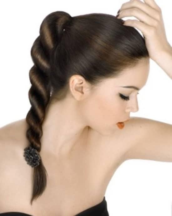 Rope Braid Ponytail