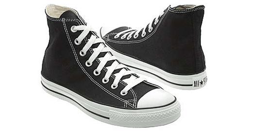 Black White Converse
