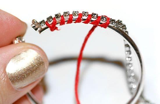 Diamond Hoop Earrings Step 2