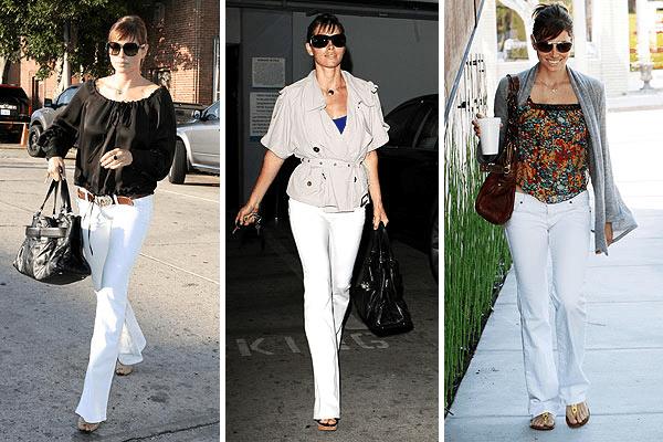 Jessica Biel White Pants