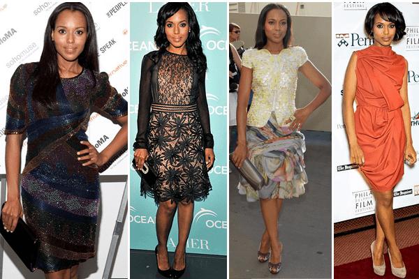 Kerry Washington Textured Dresses