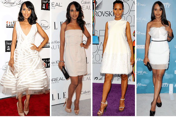 Kerry Washington White Dresses