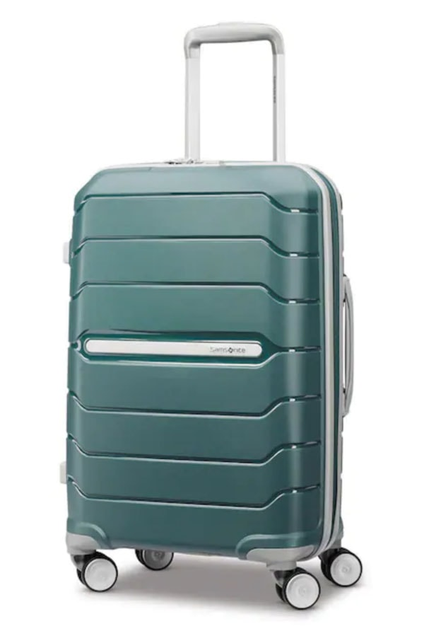 Green Samsonite luggage