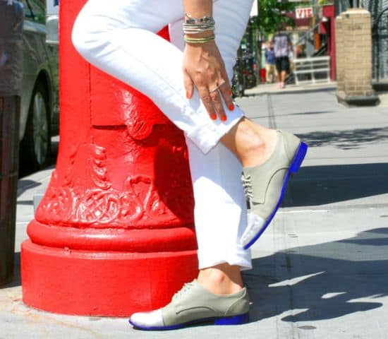 Color Oxfords White Pants