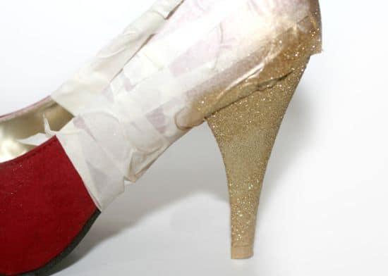 DIY Glitter Pumps Step 2