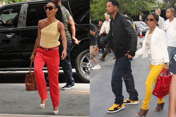 Jada Pinkett Smith Bright Color Pants