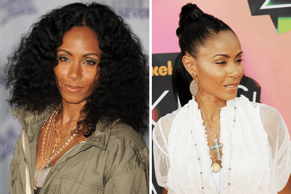 Jada Pinkett Smith Layering Necklaces