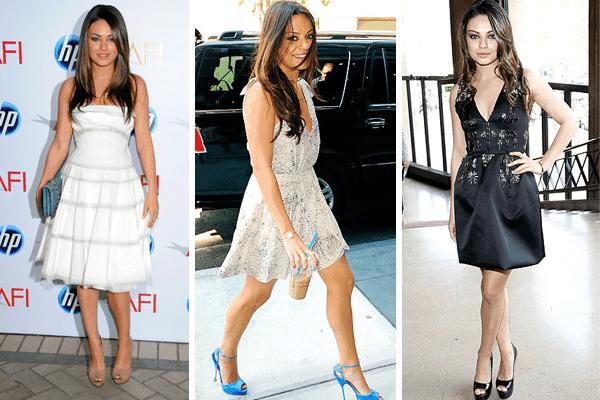 Mila Kunis Open Toe Heels