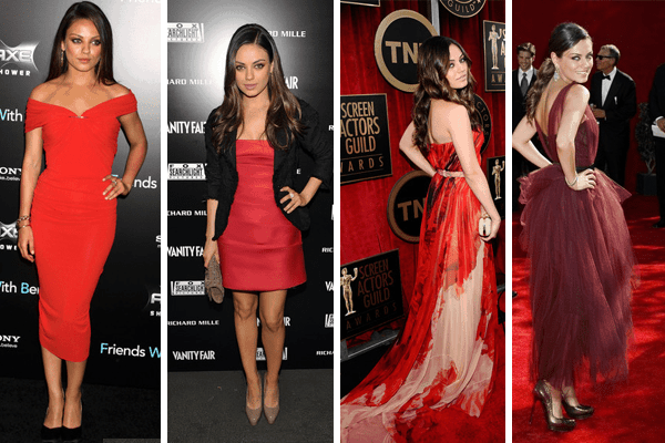 Mila Kunis Red Outfits