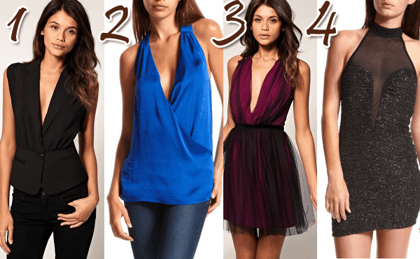 Plunging Neckline Dresses