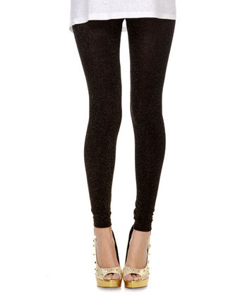 Black Glitter Leggings