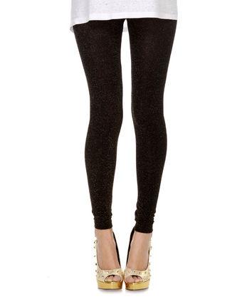 Black Glitter Leggings