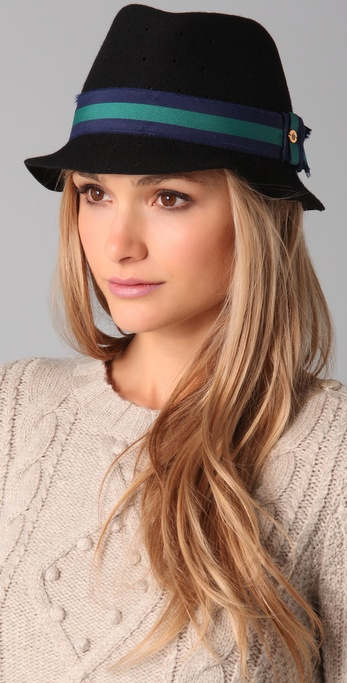 Juicy Couture black perforated fedora