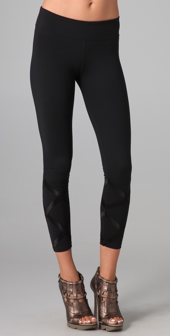 Payne Ankle Leggings with Ribbon Detail
