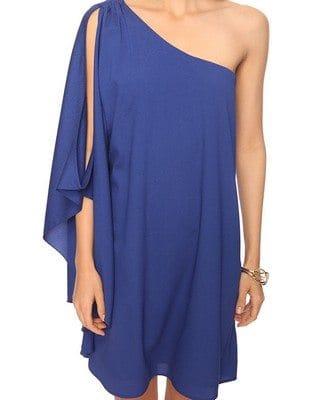 Royal Blue Assymetrical Dress