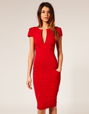 Tomato Red Cap Sleeve Dress