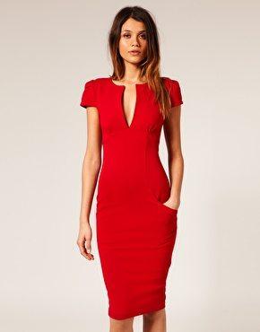Tomato Red Cap Sleeve Dress