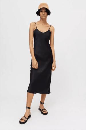 Black slip dress.