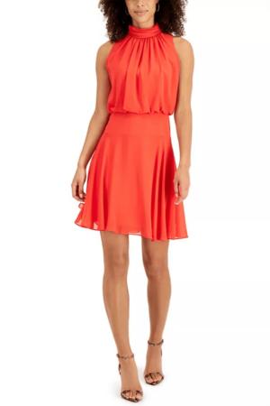 Orange dress from Macy's.