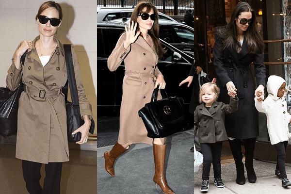 Angelina Jolie Trench Coats