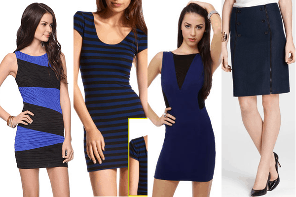 Black-Blue Dresses
