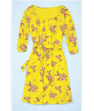 Floral Dress Polyester