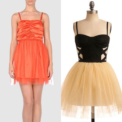 Tangerine Tulle - Two Tone Ballerina
