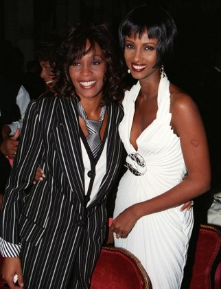 Whitney Houston and Iman