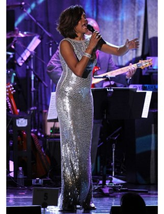 Whitney Houston at the 2011 Pre-Grammy Gala
