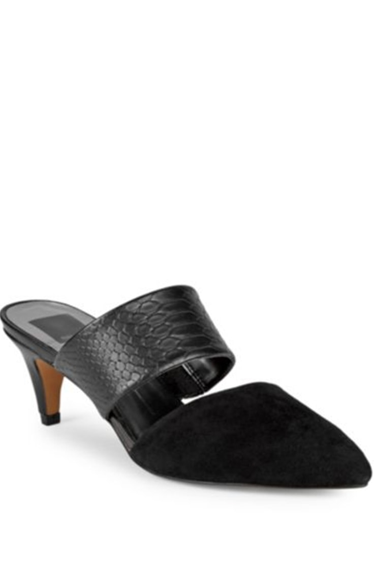 Black kitten heel sandal