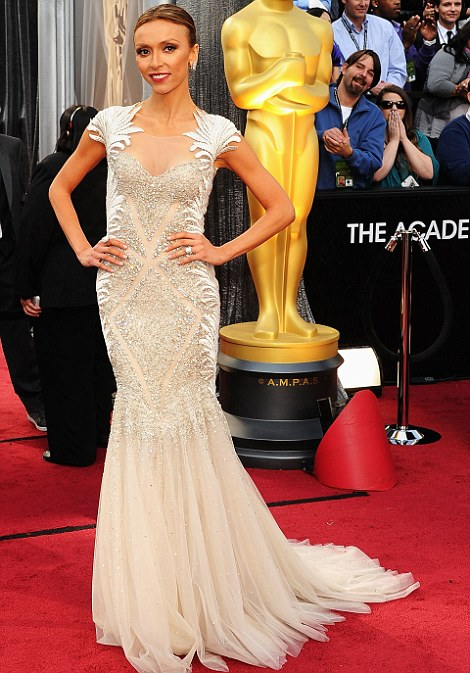 Guiuliana Rancic at the Oscars 2012