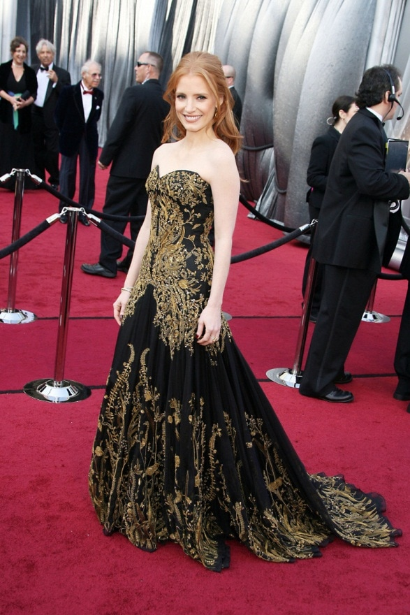 Jessica Chastain at the Oscars 2012