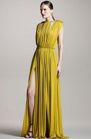 Lanvin Rope-Shoulder Gown
