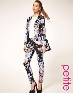PETITE Pants in Floral Print