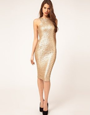 TFNC Cut Out Racer Sequin Midi Dress