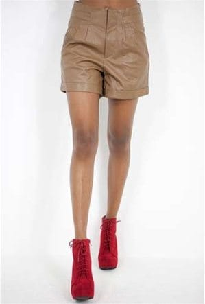 West Coast Wardrobe Faux Leather Short