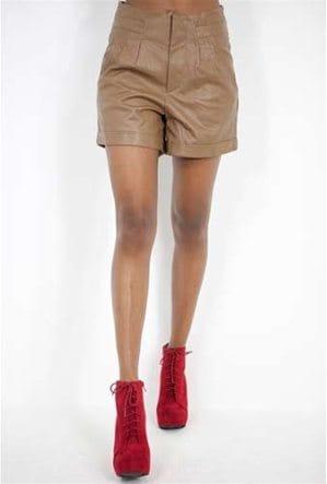 West Coast Wardrobe Faux Leather Short