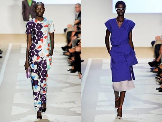 best color for your skin tone: dark skinned models wearing colorful dresses