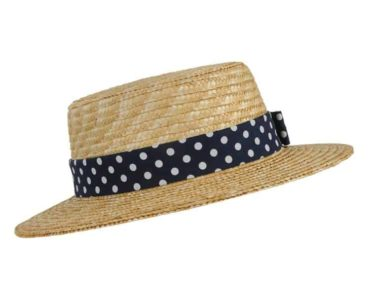 festival accessories: Dotted Straw Hat