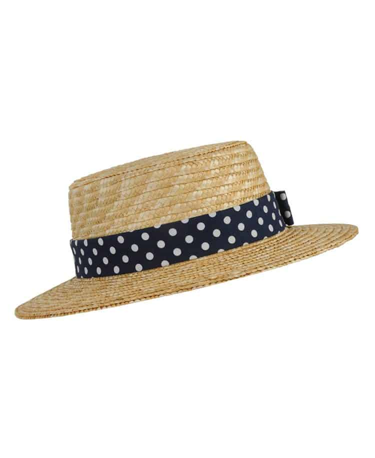 Dotted Straw Hat