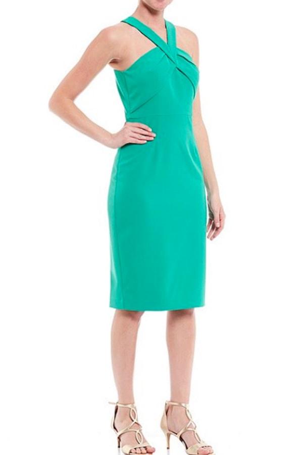 Shop Dillard's for dresses: green sheath dress