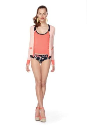 bathing suit with cardigan